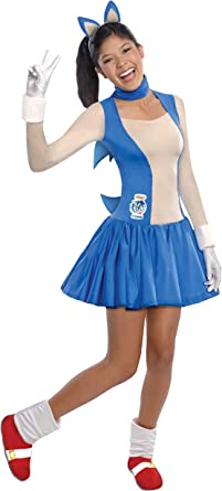 Amazon Com Rubie S Sonic The Hedgehog Dress And Accessories Blue Teen Clothing