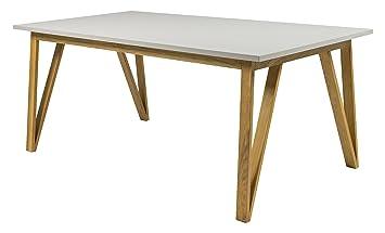 Tenzo 6961 912 Cross Designer Table Pour Salle A Manger Chene Gris