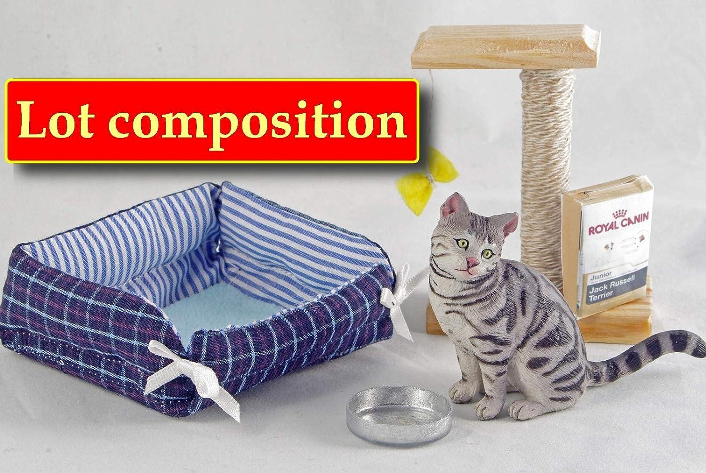 1:12 Scale Cat  Doll House Miniature Pet Animal Accessory 2916