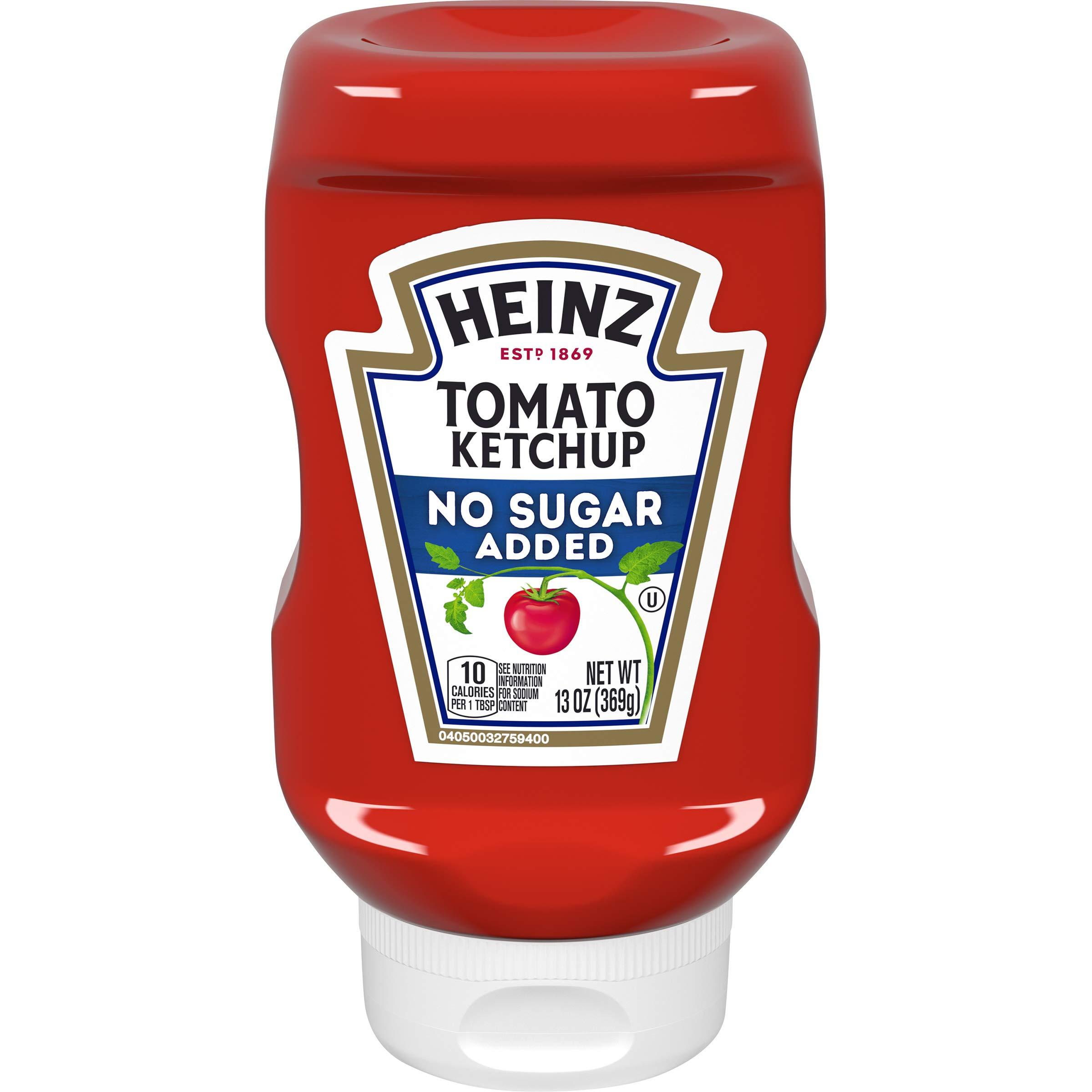 Heinz Ketchup No Added Sugar (13oz Bottles, Pack of 6)