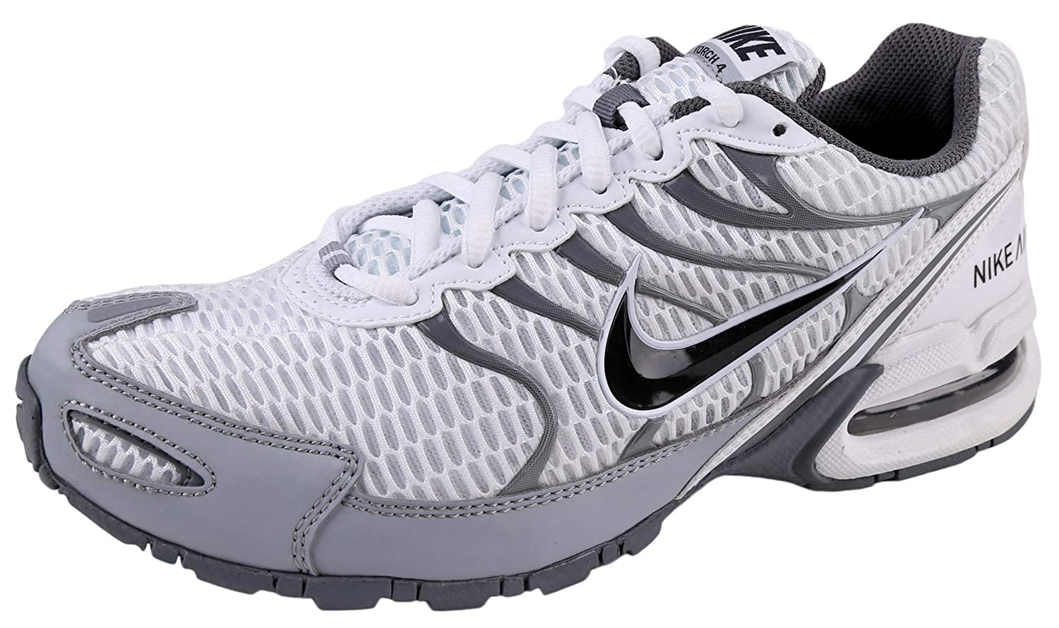 designer fashion 333e9 0a31e Nike Mens Air Max Torch 4 Running Shoe (9.5 D(M) US, White/Anthracite/Wolf  Grey)