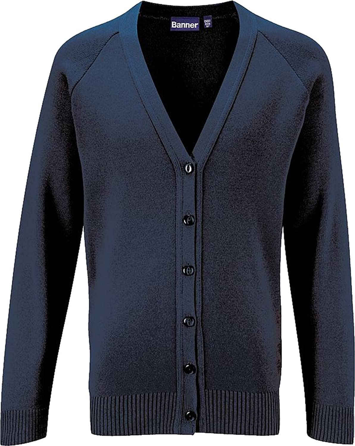 Blue Max Adults Winterwear V Neck Style Long Sleeve Buttoned Cardigan Sweater