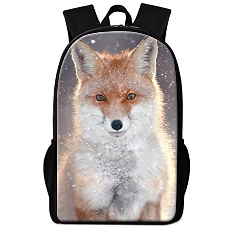 Dispalang Cute Fox Backpack for Children Cool School Bag Pattern for Girls  Boys Day Pack bc0e0334e8eba