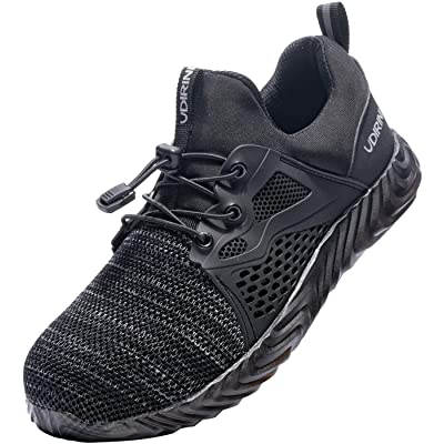 FGSGSG Safety Steel Toe Cap Slip Resistance Work Shoes Anti-Puncture Breathable Mesh Lightweight Indestructible Boots: Shoes