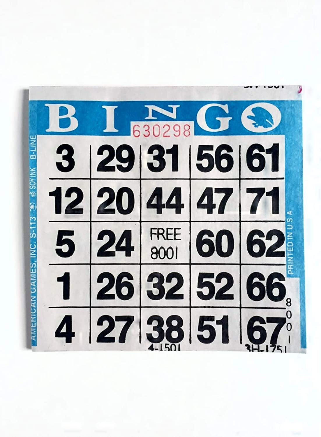 United Novelty 1 on Double Action Double Play Bingo Paper Game Cards Purple Pack of 500