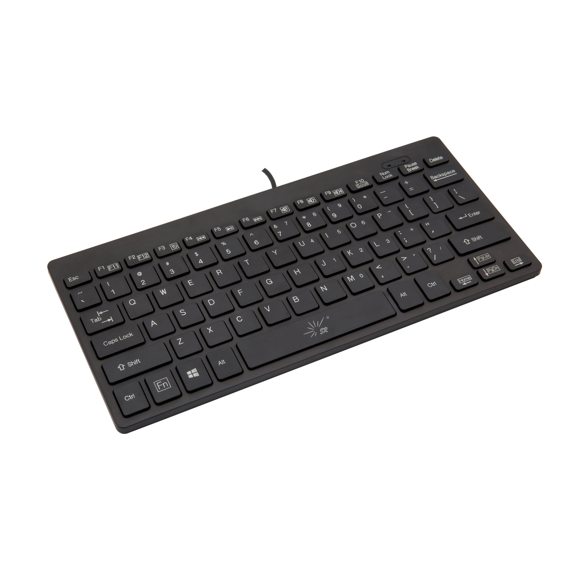SR Mini Keyboard Wired Thin Light 78 Keys Usb Multimedia Small for Pc Computer Laptop by SR