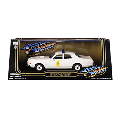 Greenlight 86557 1: 43 Smokey & The Bandit (1977) - 1975 Plymouth Fury Mississippi Highway Patrol: Toys & Games