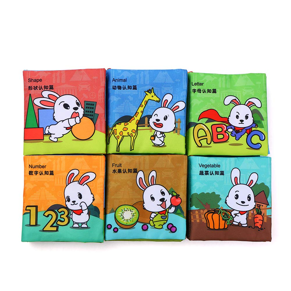 Infant Baby Kids Early Learning Educational Animals Read Soft Toys Cloth Books