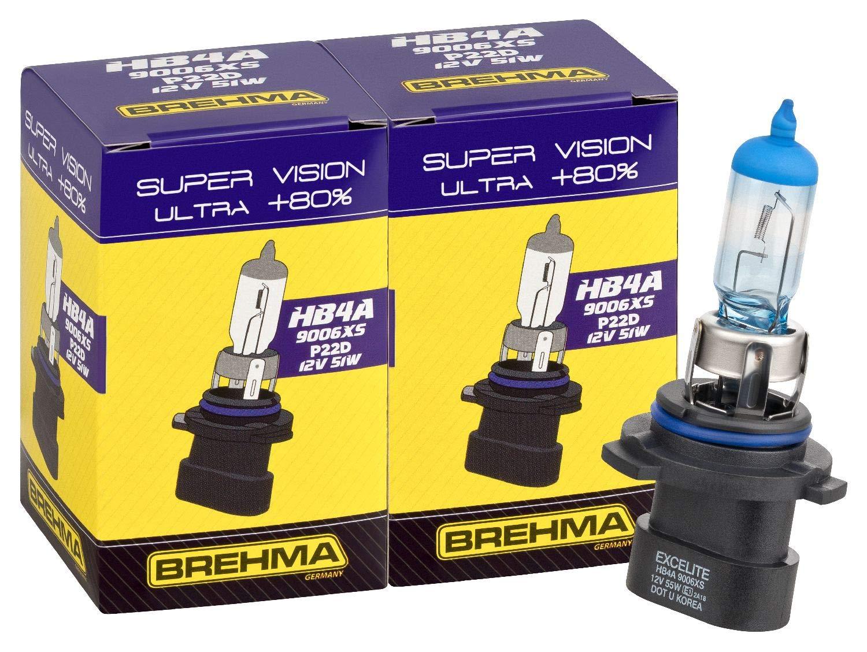 Brehma 90434 Duo Set Premium HB4A 9006XS Super Vision Ultra +80%