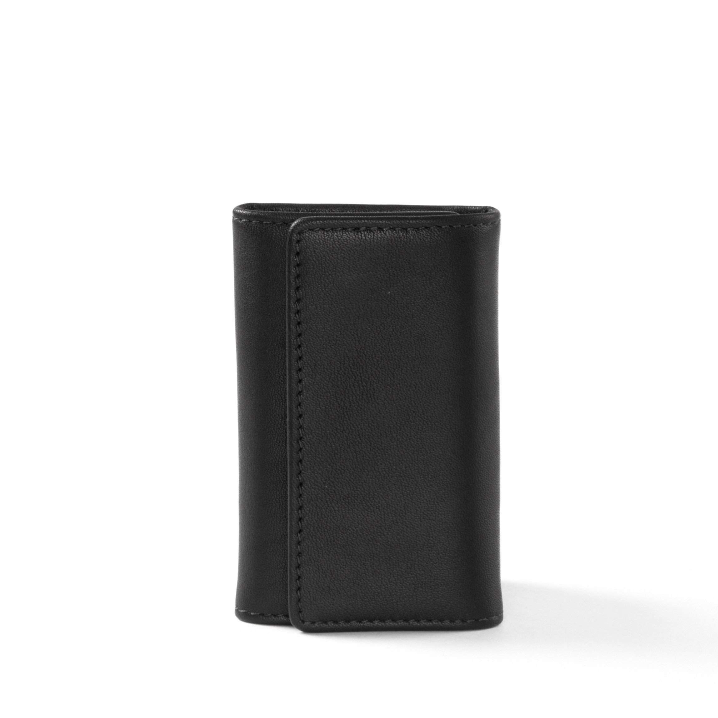 Key Case - Full Grain Leather - Black Onyx (black)