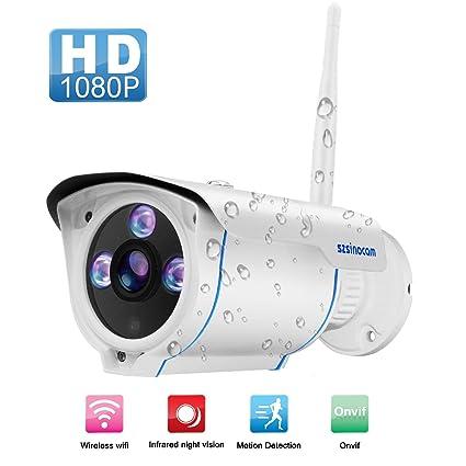 WIFI Camera Outdoor,SZSINOCAM Wireless Security Camera, Waterproof  Surveillance CCTV Camera FHD 1080P Night Vision Bullet Cameras With  Advanced chips