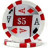 Trademark Poker Premium 4 Aces Poker Chips