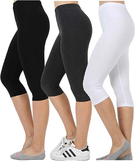 Women/'s Leggings Yoga Pants Premium Cotton Stretch Full Length-made in usa S-3XL