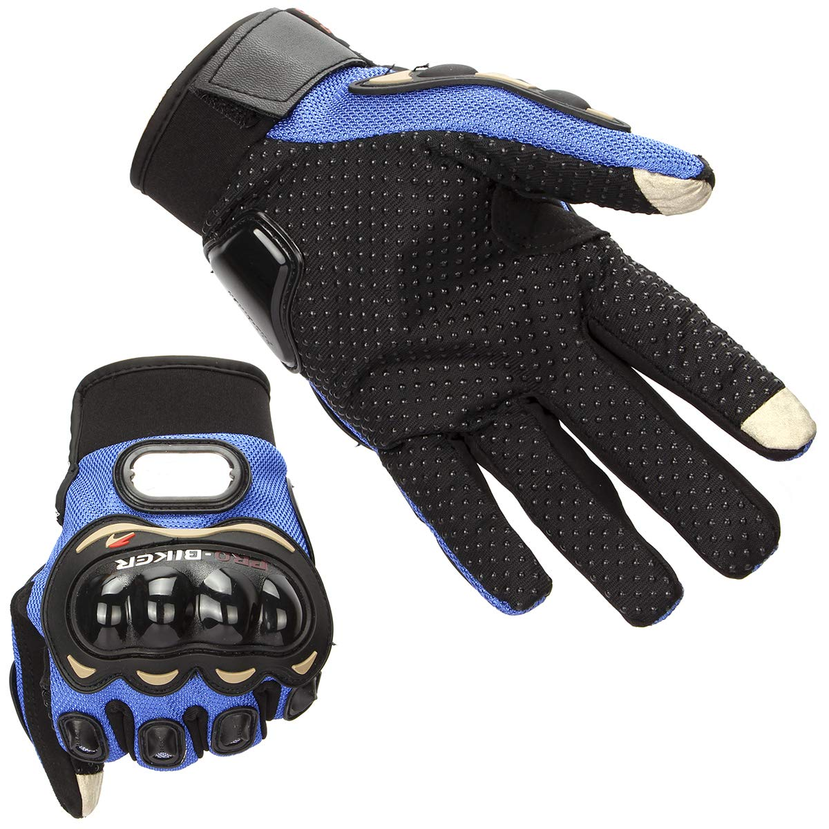 Gants de moto Full Finger Touchscreen Gants Hommes Gants de moto Cyclisme Racing Gants d'équitation de motocross Sports de plein air (XX-Large, Blue)
