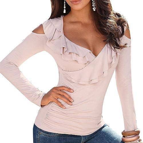Vin beauty wlgreatsp Las Mujeres de Moda Las Niñas con Encanto Elegante Sólido Fuera del Hombro Vola...