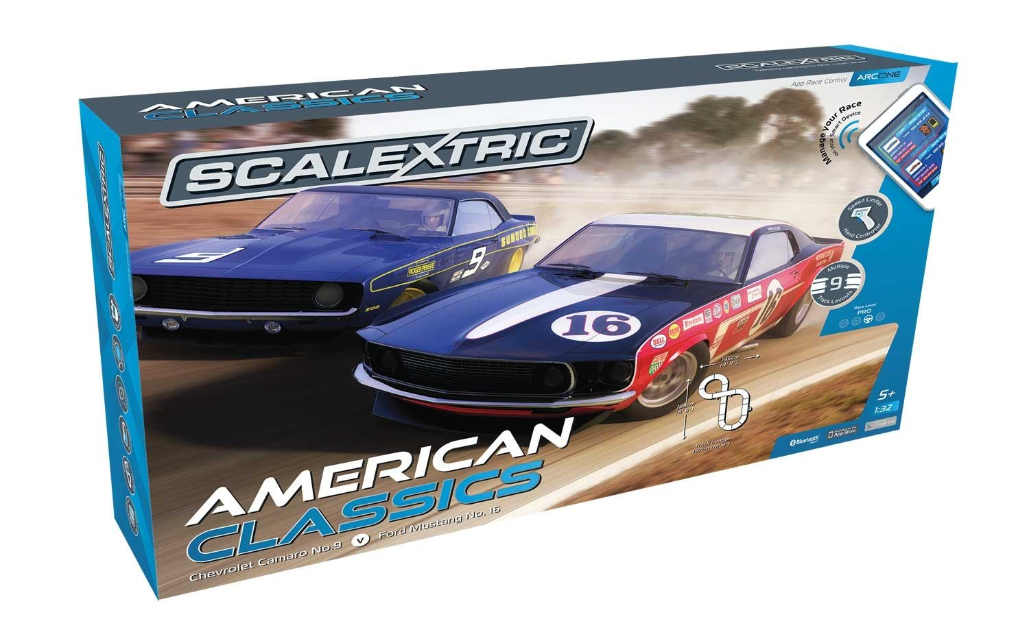 Scalextric ARC One American Classics 1:32 Slot Car Race Track Playset by Scalextric