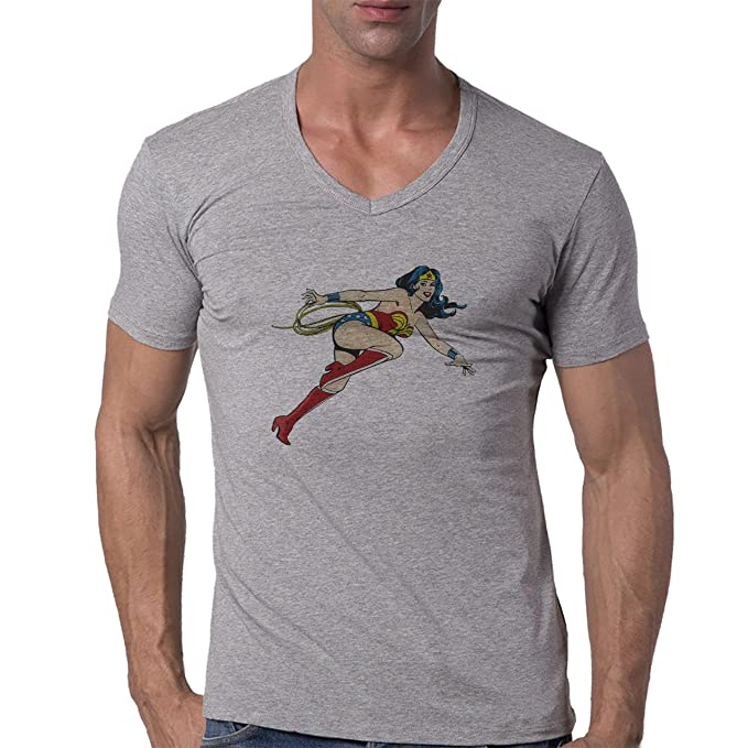 Wonder Woman In Comics Style XXL Mujer V-Neck T-Shirt ...