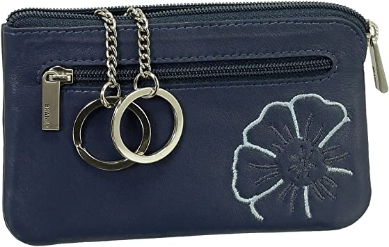 Estuche llavero llave de piel con llavero, bolsa con cremallera Compartimento VERS. Colores Nuevo Azul azul: Amazon.es: Equipaje