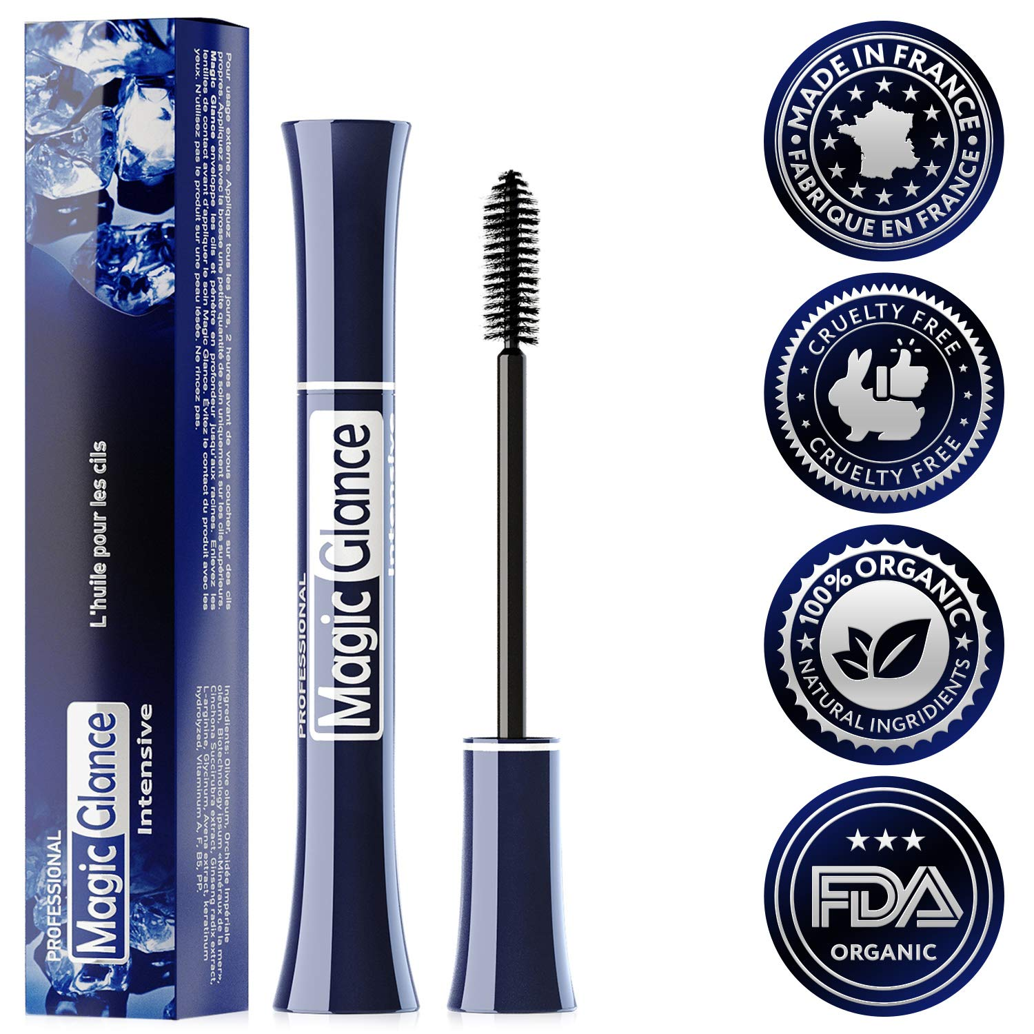 27728b2b9d6 Amazon.com: Magic Glance - Eyelash Growth Serum - Lash Boost Enhancer For  Longer Lashes And Eyebrows - Fast Results In 10 Days: Beauty