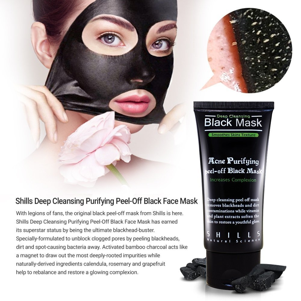 galleon shills blackhead remover black mask peel off purifying charcoal pore minimizing. Black Bedroom Furniture Sets. Home Design Ideas