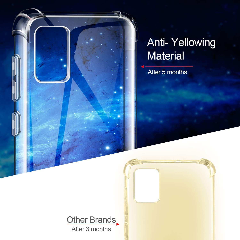 AROYI Case Cover for Samsung Galaxy A51 Custodia Trasparente TPU Silicone Case Shock Absorption Corner Cushion Bumper Back per Samsung Galaxy A51