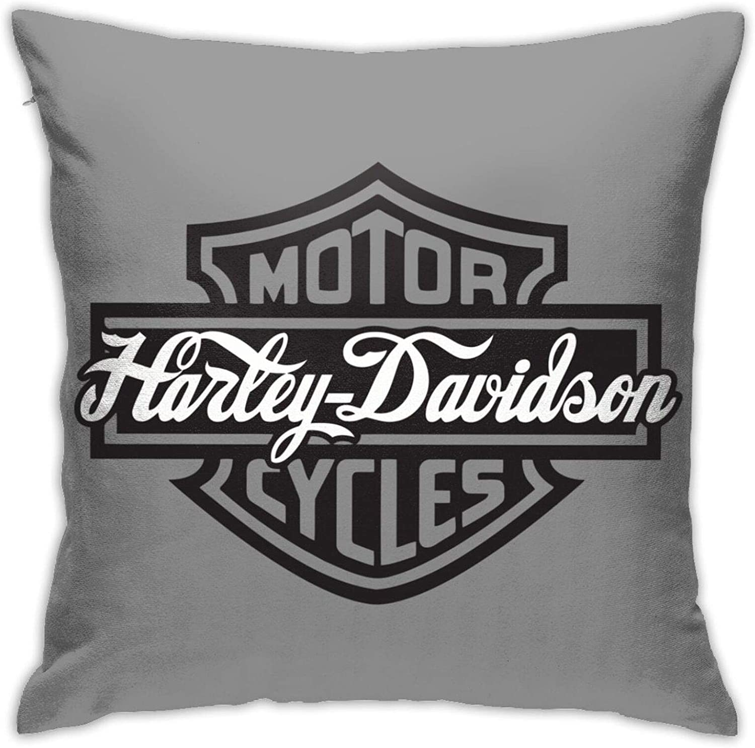 Epic Poetry Harley Davidson Series Polyester Decorative Square Pillow Cover Home Sofa Bedroom Office Car Seat Cover