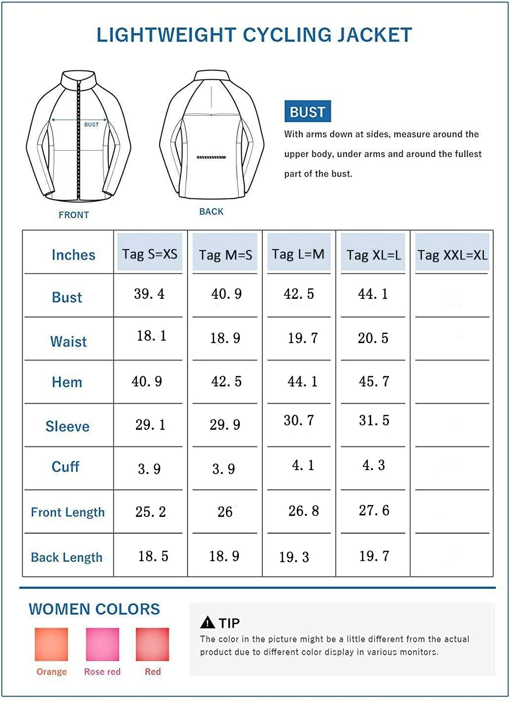 Shelcup Womens Windproof Water Resistant Convertible Cycling Running Jacket