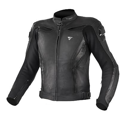 Shima Chase - Chaqueta de piel para moto, para hombre, con ventilación, reflectante, chaqueta con protecciones