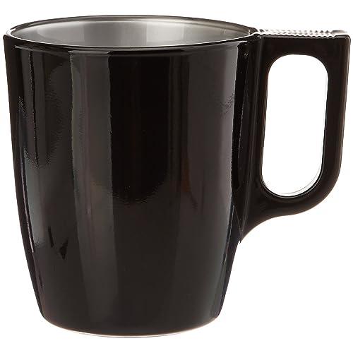 Luminarc 8010794 Flashy Color Lot de 6 Mugs Plastique/Polypropylène Noir 10,4 x 7,6 x 9,19 cm