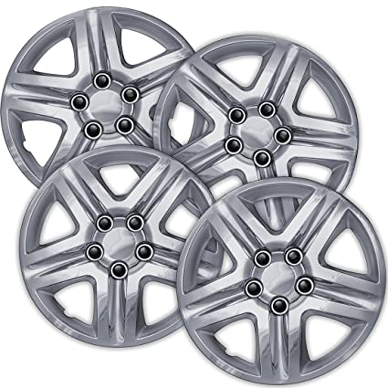 16 inch Hubcaps Best for 2006-2013 Chevrolet Impala - (Set of 4) Wheel Covers 16in Hub Caps Chrome Rim Cover - Car Accessories for 16 inch Wheels - Snap On ...