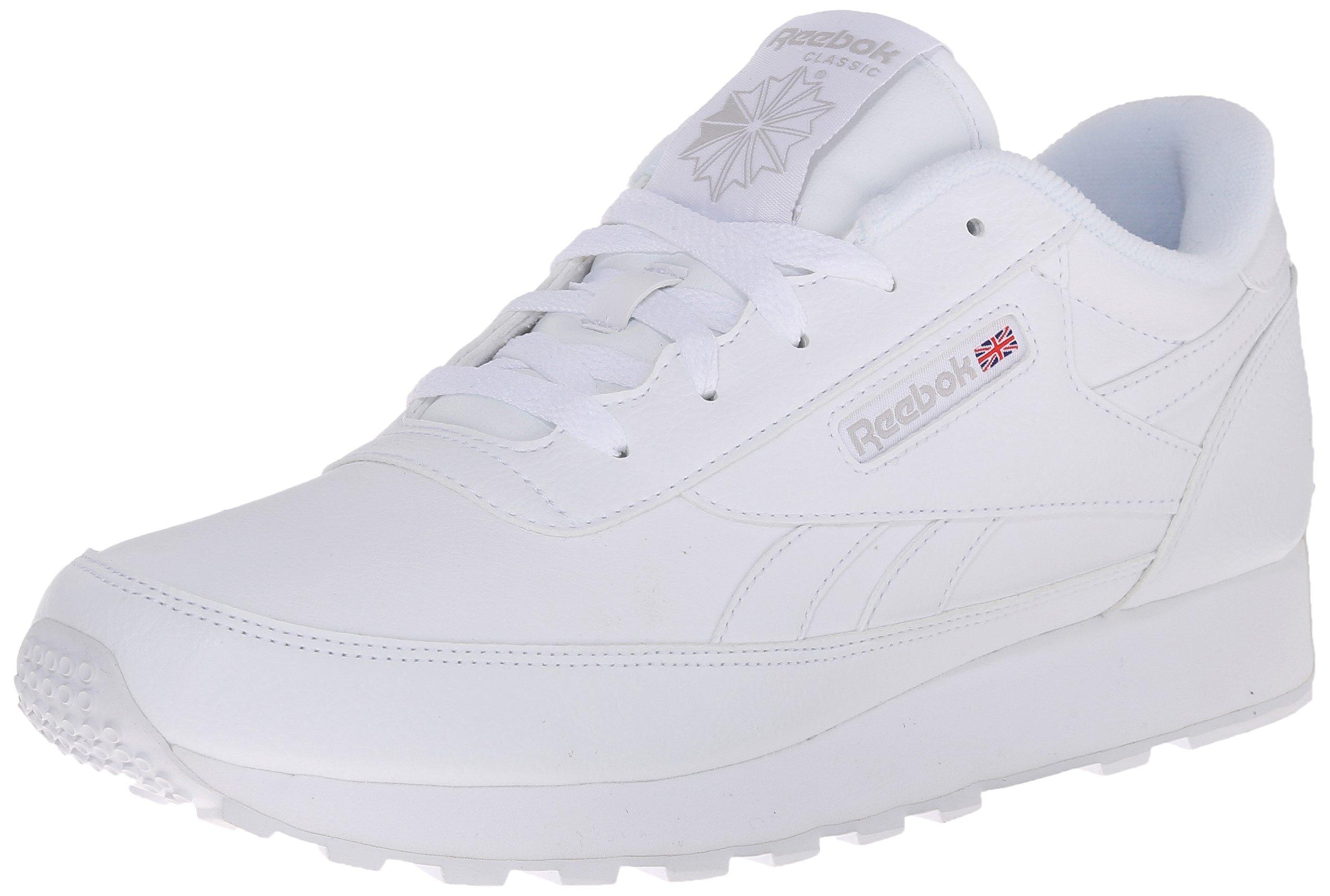 Reebok Women's Classic Renaissance Sneaker, White/Steel, 8.5 M US