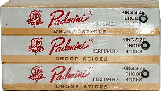 Padmini perfumado palos Dhoop – Tamaño King – 10 Sticks x 12 paquetes: Amazon.es: Hogar