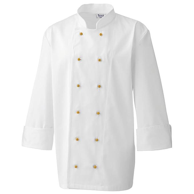 Premier- 12 broches de bata de chef/cocinero: Amazon.es: Ropa y accesorios