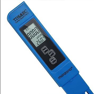 Monzana 3 In 1 Tds Ec Ph Messgerät Digitaler Wassertester Mit Lcd Anzeige Batterie Verschiedene Modelle Baumarkt