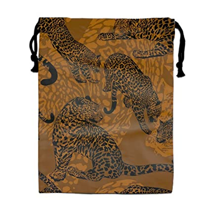 Amazon.com  Wild Leopard Drawstring Bags Waterproof Party Favors Pouch Tote  Bag Sack For Girls Boys  yyoungsell 5d29b359485ca