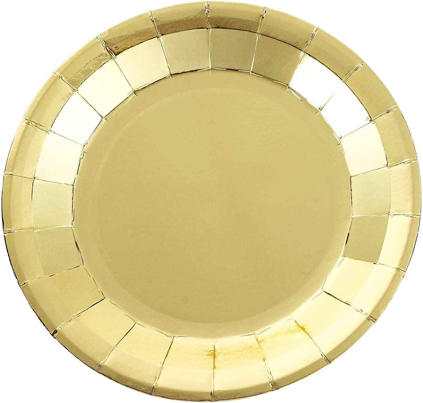 Gold Square Paper Plates Party Supply 7 Pack of 20