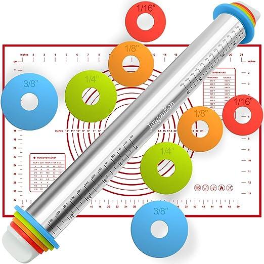 Amazon.com: Rolling Pin, rodillo de acero inoxidable ...