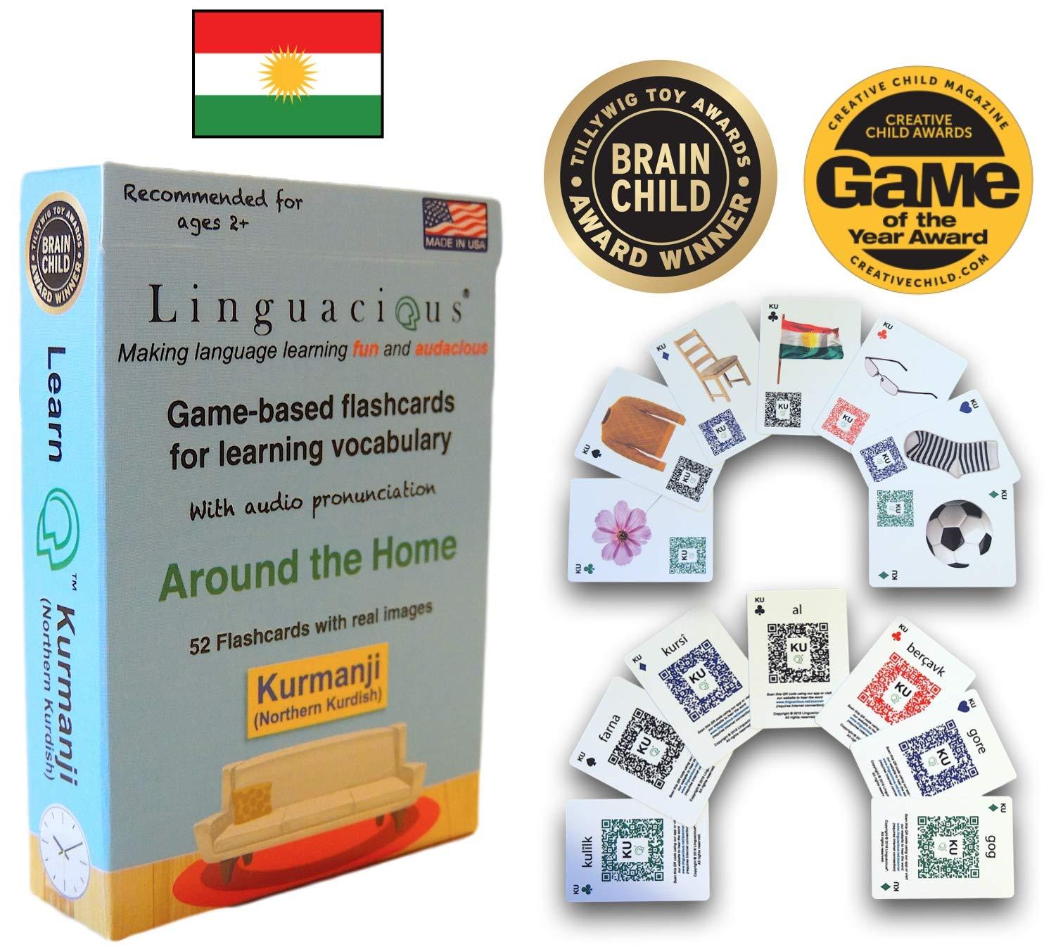 Linguacious Award-Winning KURMANJI Kurdish The Home Flashcard Game - with Audio! by Linguacious