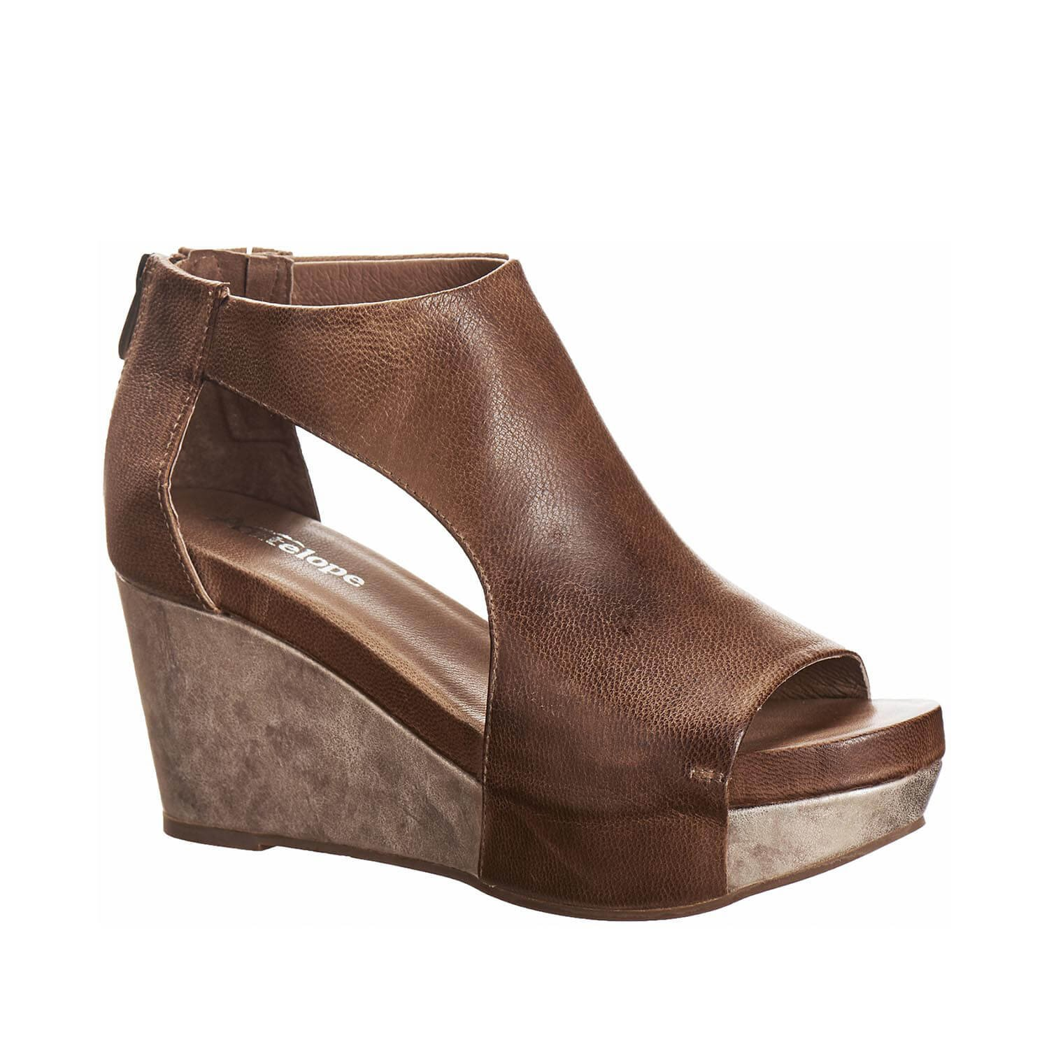 Antelope Women's 942 Taupe Leather Open View Sandals 37