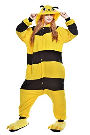 NEWCOSPLAY Halloween Unisex Adult Bee Pajamas Cosplay costumes (S, Bee)