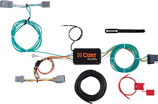 CURT 56403 Vehicle-Side Custom 4-Pin Trailer Wiring Harness for for Select Volkswagen Tiguan