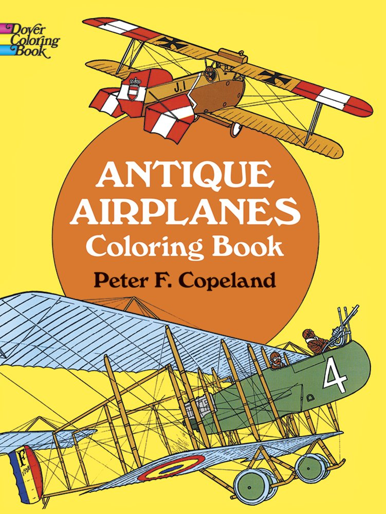Antique Airplanes Coloring Dover History product image