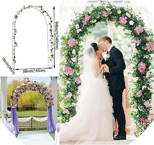 Little-hope Wedding Arch Props Arcos de Boda Marco decoración de Fondo pérgola jardín Flor Soporte Boda Globo Arco Blanco Fiesta decoración: Amazon.es: Jardín