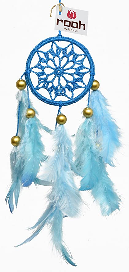 Rooh dream catcher sky blue crochet handmade hangings for positivity can be used