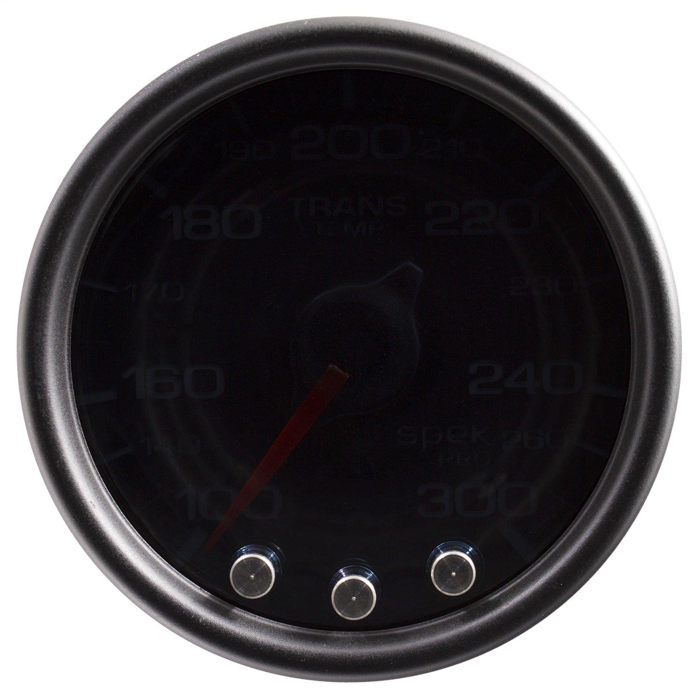 Auto Meter P34252 Gauge, Trans Temp, 2 1/16'', 300ºf, Stepper Motor W/Peak & Warn, Smoke/Blk, Spek-Pro