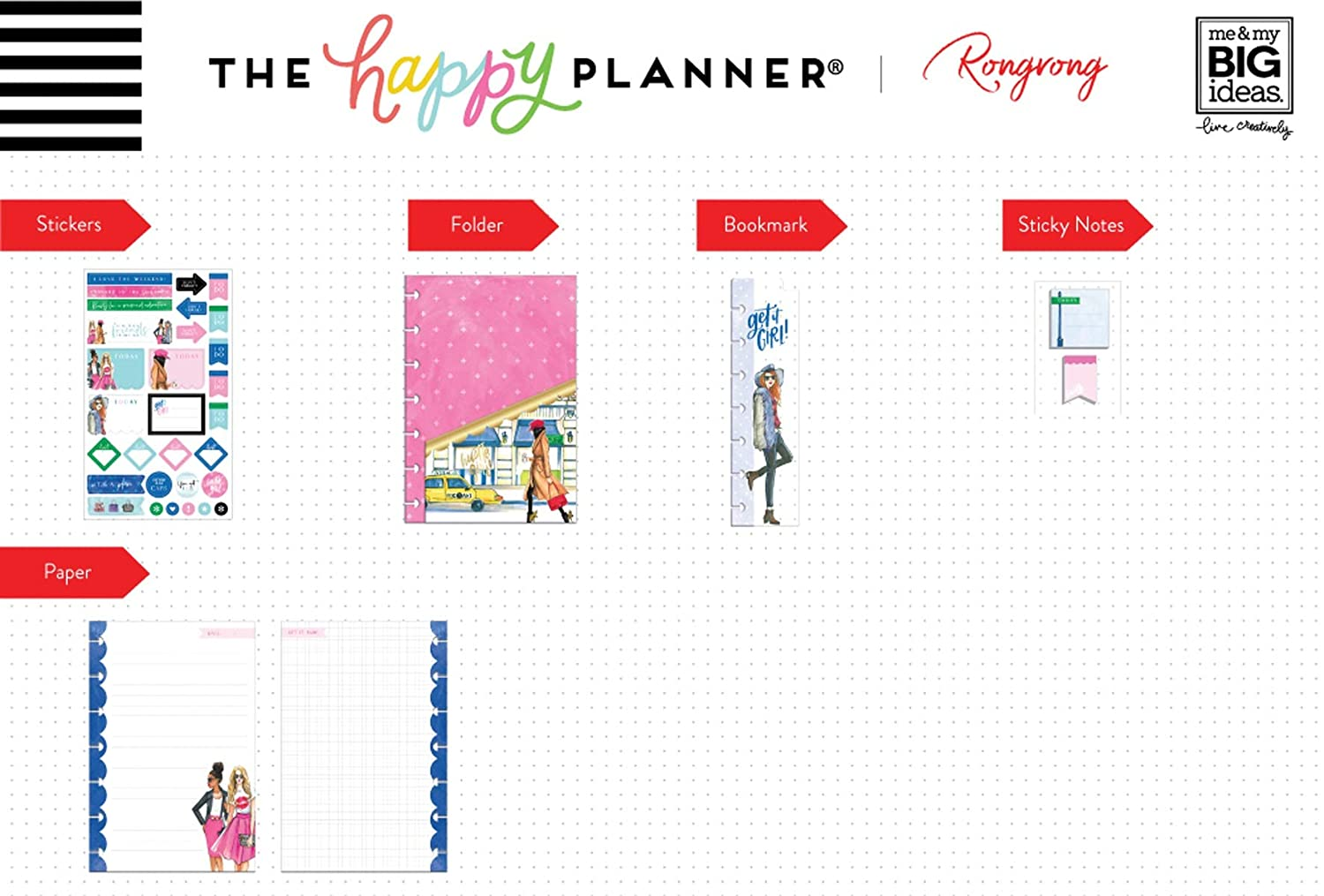 ME /& MY BIG IDEAS PSAPM-07X Happy Planner Access RONGRONG