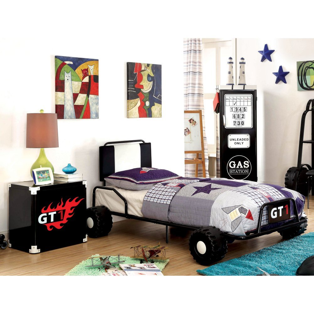 Furniture of America Daiton Racecar 2 Piece Bedroom Set
