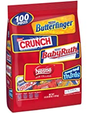 Nestle Chocolate Assorted Halloween Candy, Bulk Minis Bag with Butterfinger, Crunch & Baby Ruth (90 Count)