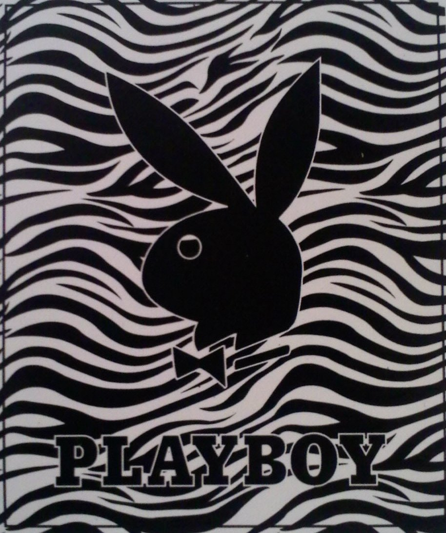 Original PLAYBOY BUNNY RABBIT Queen Size Mink Blanket Zebra