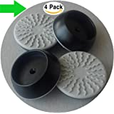 4 Pack Wall Cups for Baby Gates, Wall Protection Guard Saver Protects Wall Surface, Door, Wooden Stairs. Safety Fit for Walk Through Security Pressure Mounted Gates (4 Pack Black)